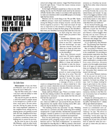 DJ TIMES - Write Up on Kids DJ service