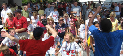 Kids DJs at Minnesota Twins Game